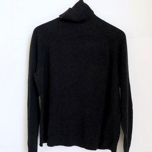 VINTAGE/ boxy dolman turtleneck pullover - onyx